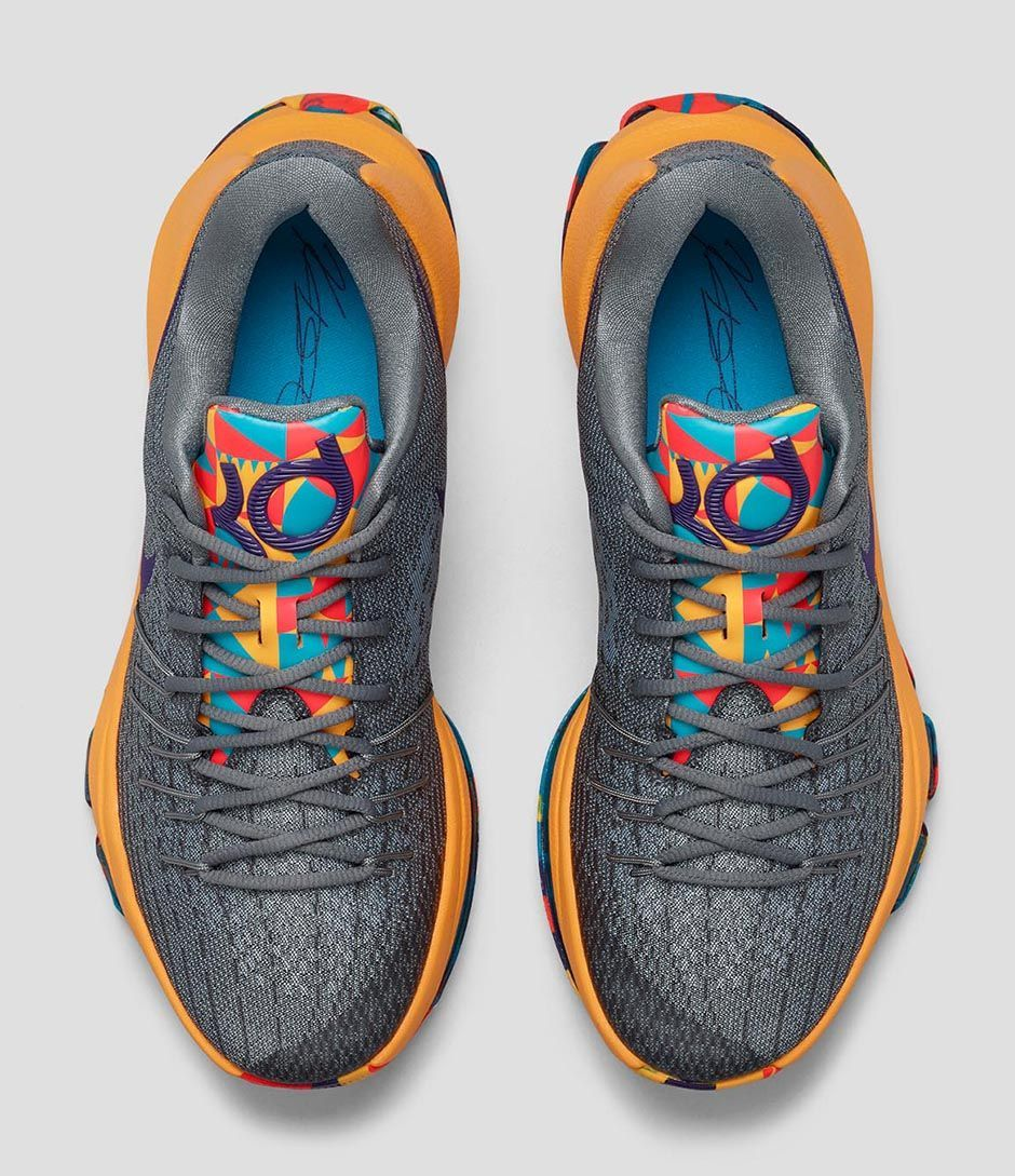 The latest Nike KD 8 is drawing inspiration from Prince George's County,  Maryland where Kevin Durant was born. The defining characteristic of the  colorwa