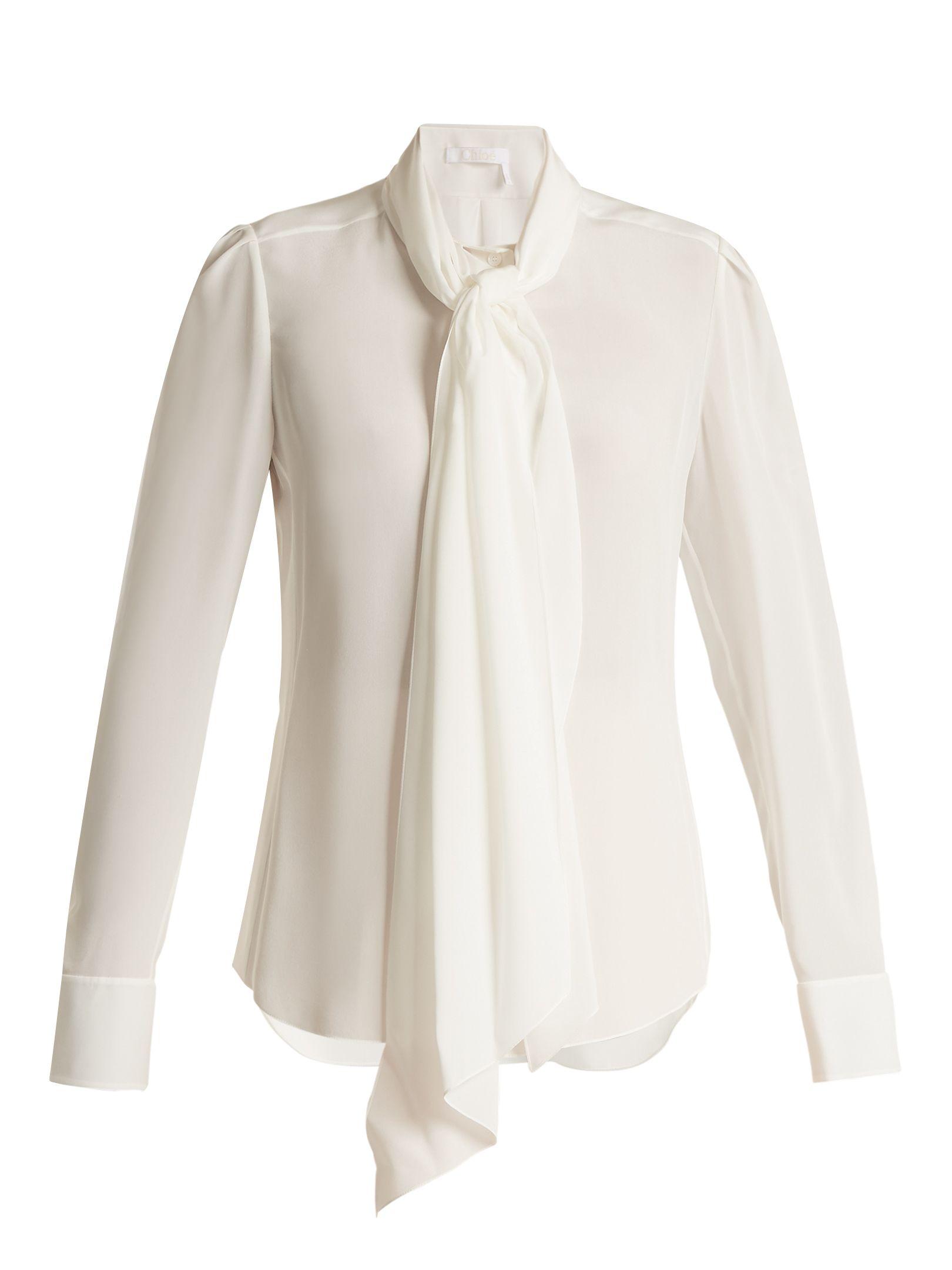 b1e165317e509 Neck-tie silk blouse