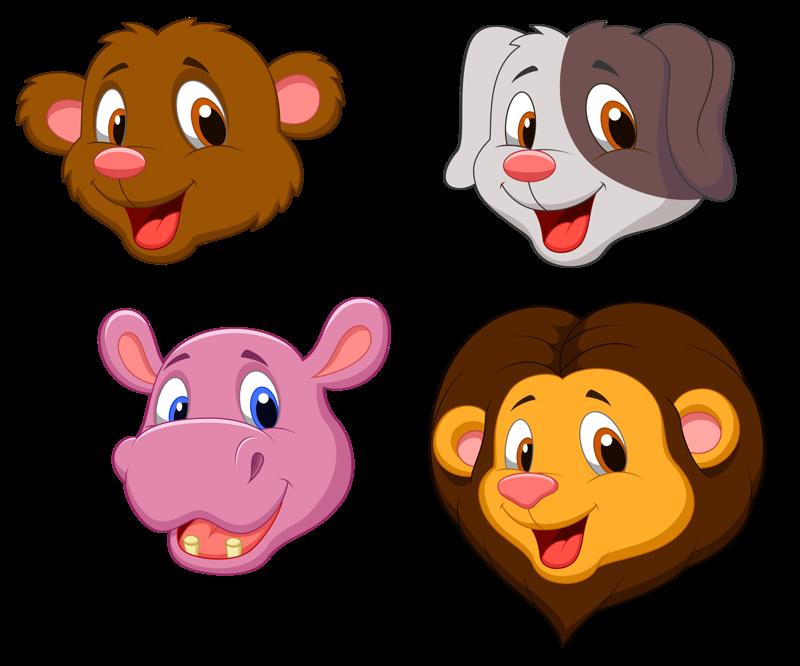 смешные мордочки животных рисунки