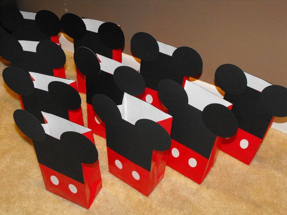 Mickey Mouse Party Favor Bags Goody By Beescutdesigns