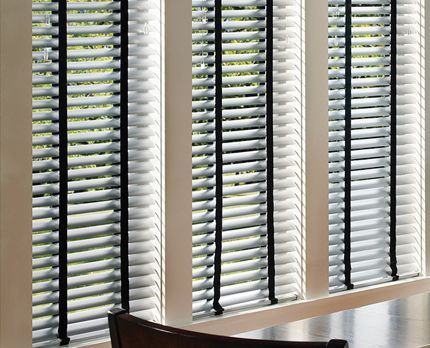Aluminum 2 Inch Blinds With Black Tape