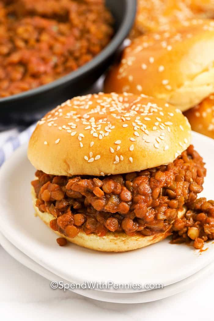 Lentil Sloppy Joes {Inexpensive Meal!} - Spend Wit