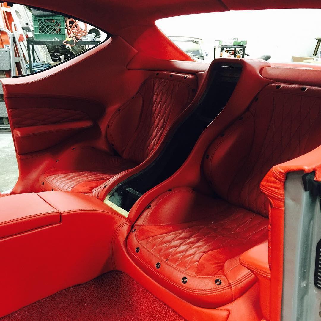 chevelle car audio custom rear seat deck interior red and black grey auto addiction interiors. Black Bedroom Furniture Sets. Home Design Ideas