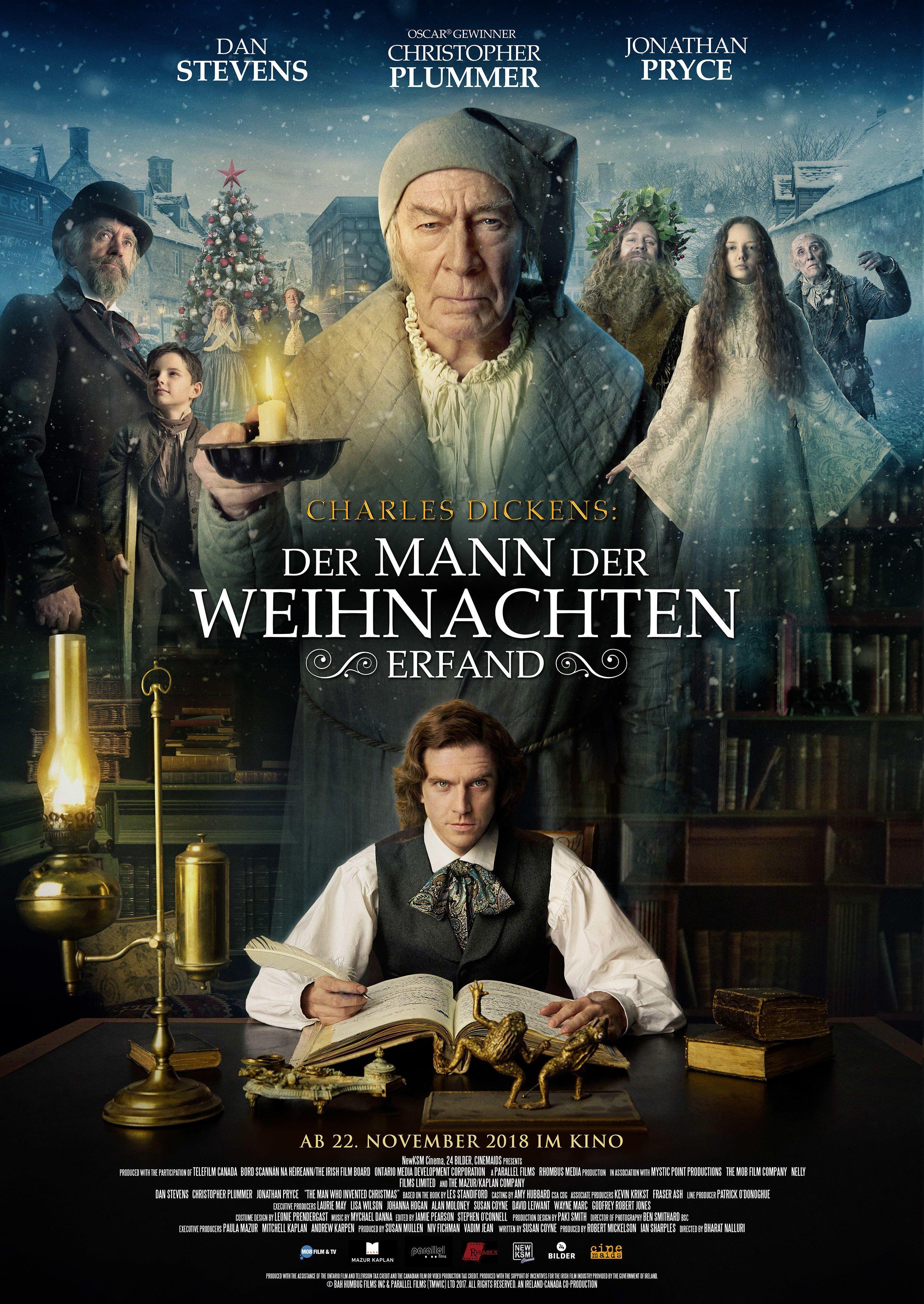 Charles Dickens Der Mann Der Weihnachten Erfand Hat Ein Deutsches Poster Weihnachten Film Weihnachtsfilme Ganze Filme