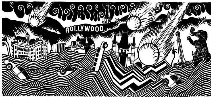 Subliminal Projects. Lost Angeles. Stanley Donwood. April 28 - May 26. 1331 W Sunset Blvd., L.A., CA 90026