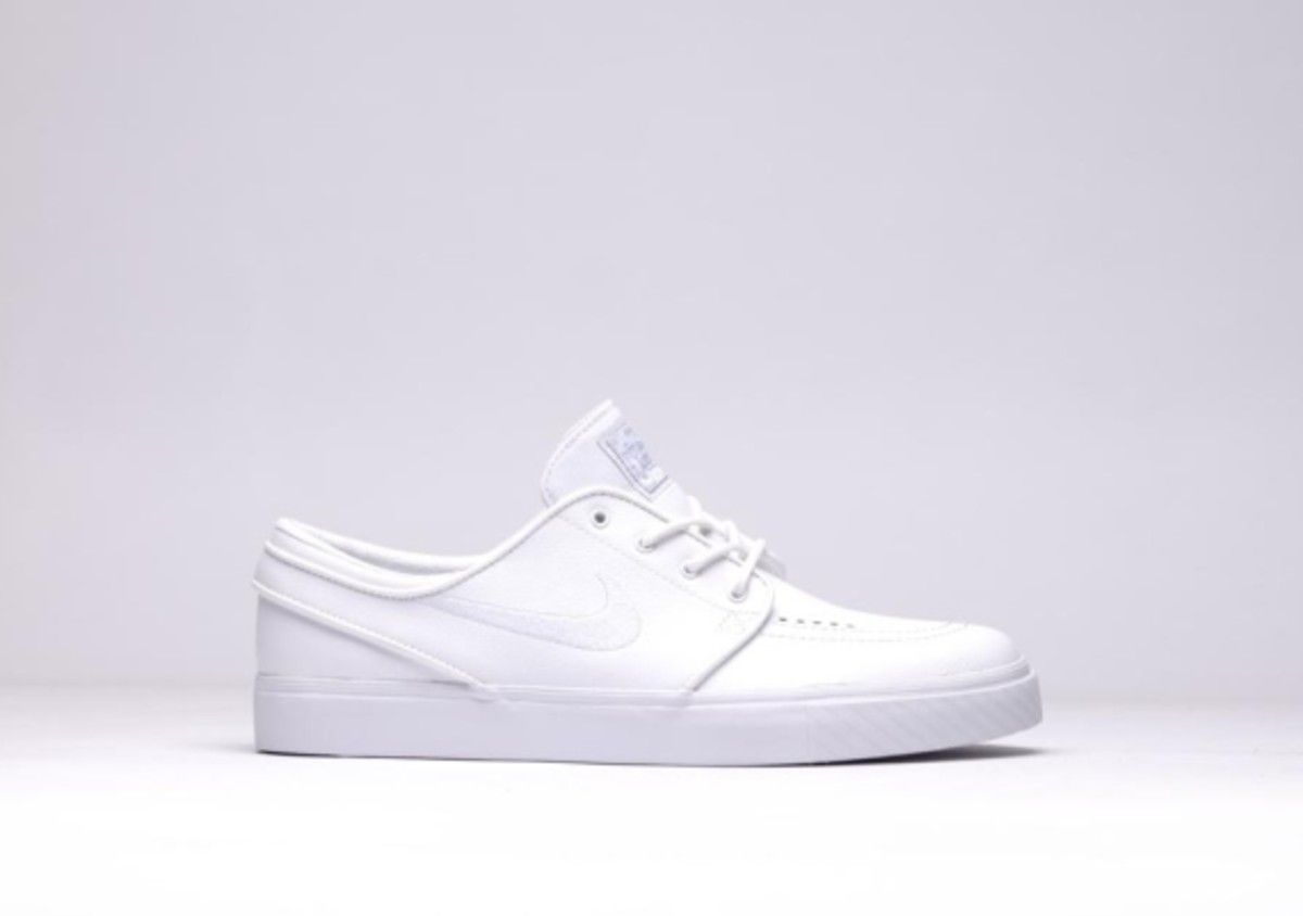 "46d4470454d0 Nike SB Zoom Stefan Janoski Leather - ""All White Whiteout"" - Freshness Mag"