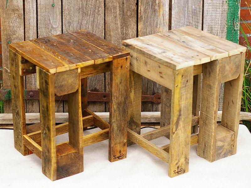 Hocker Hocker Palettenmobel Holz Klein Beistelltisch Ein
