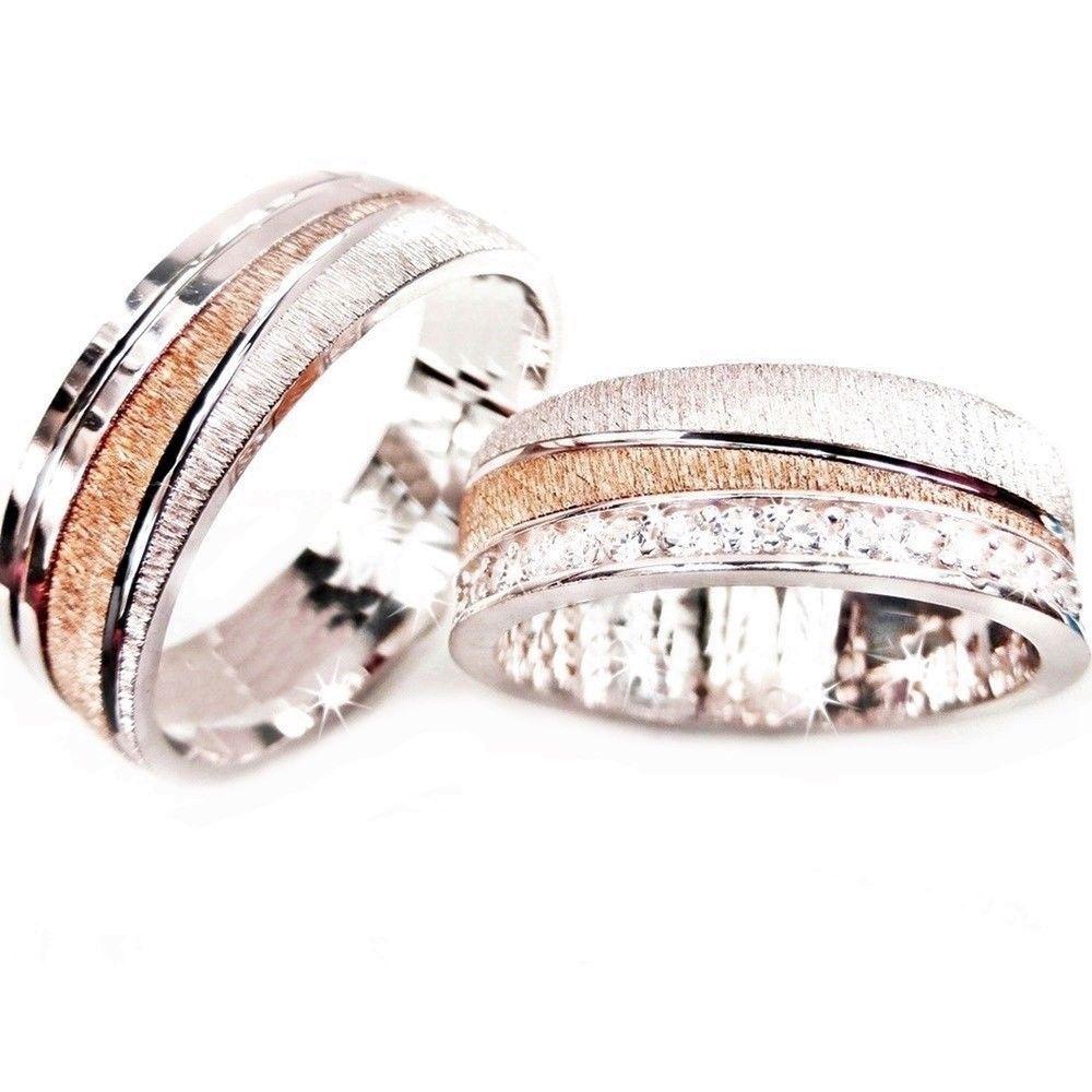 2 Trauringe Hochzeit Ringe 925 Silber Eheringe Verlobungsringe
