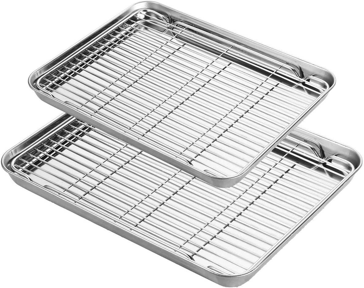 Baking sheet with rack set yododo stainless steel baking