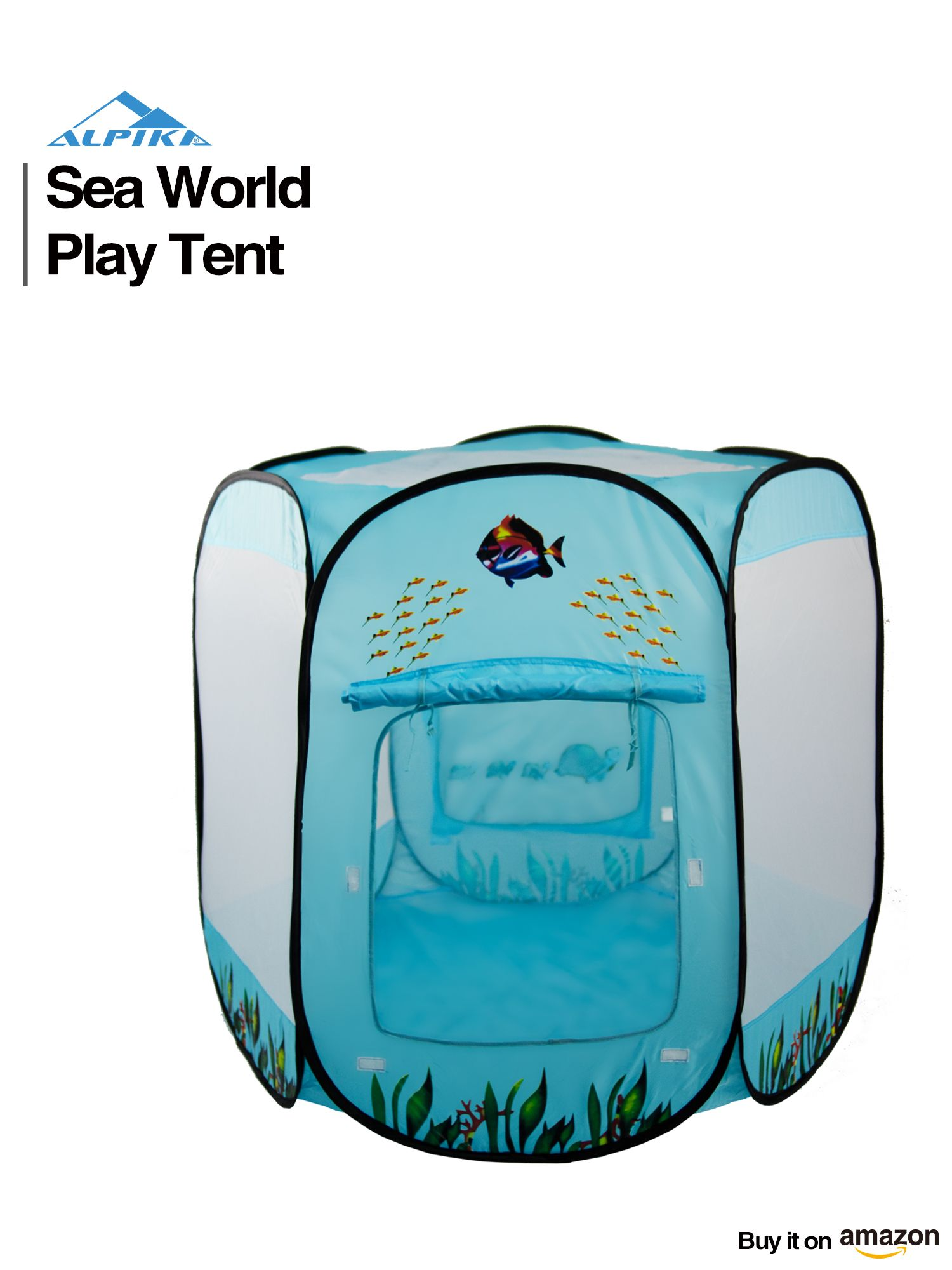 Alpika Pop up Play Tent and Ball Pit with Storage Bag Hexagonal Prism (Sea World) **Big Ball Pit** Want to Find a Good Space for Your Kidsu0027 Indoor ...  sc 1 st  Pinterest & Alpika Pop up Play Tent and Ball Pit with Storage Bag Hexagonal ...