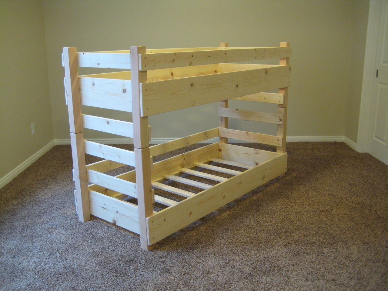 Kids Toddler Bunk Beds By Lil Bunkers It S Crib Size Bunk Beds Toddler Bunk Beds Bunk Beds With Storage