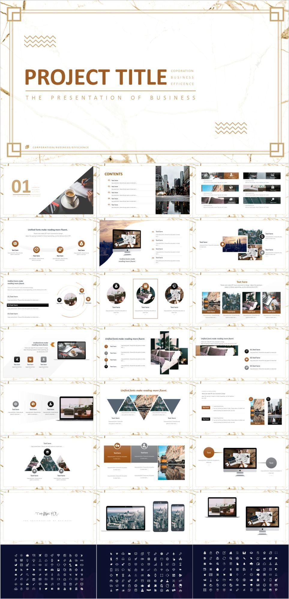 Business project design presentation Template - Pcslide com