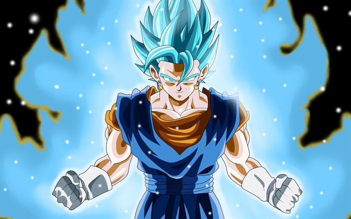 Download wallpapers Dragon Ball, Super Saiyan Blue, anime