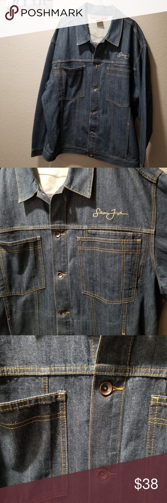 Sean John Ldenim Blue Jean Jacket Sean John 100 Cotton Denim Blue Jean Jacket Men S Xxxl Like New Grea Blue Jean Jacket Mens Jean Jacket Men Blue Jean Jacket [ 1740 x 580 Pixel ]