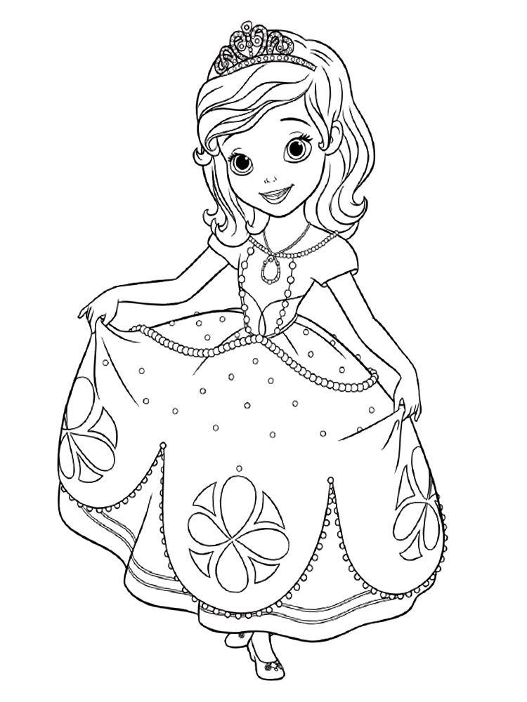Descargamos Dibujos Para Colorear La Princesa Sofia Disney