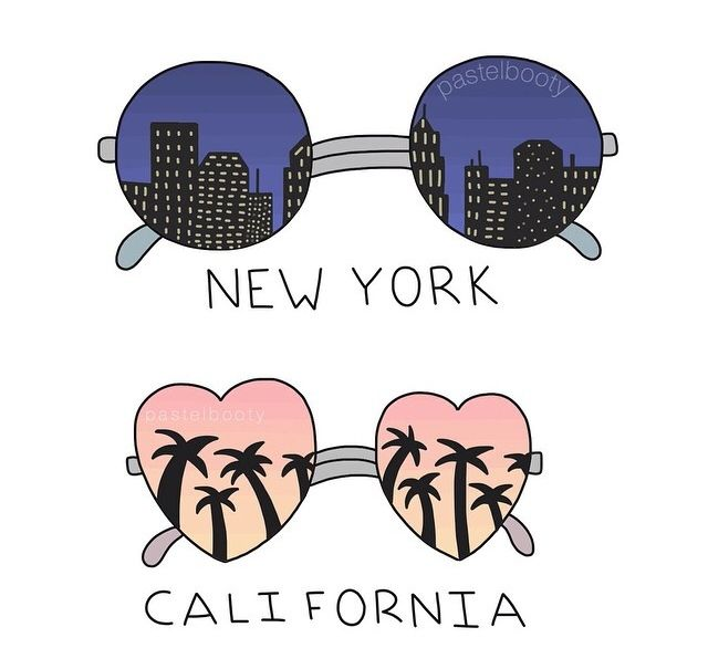 New York California
