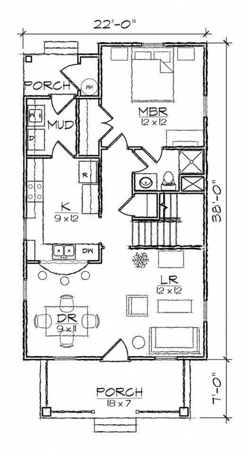653973 3 Bedroom 2 Bath Bungalow open house plan