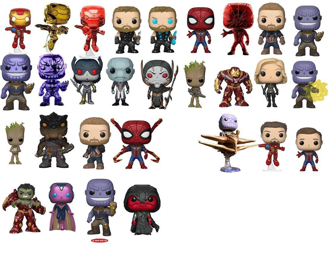 Re Edited Infinity War Pop Vinyl Checklist For Use All Pops To My Knowledge So Help Me Out If You Know Funko Pop Avengers Funko Pop Dolls Funko Pop Spiderman