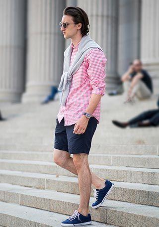 「ギンガムチェックシャツ コーデ メンズ」の画像検索結果