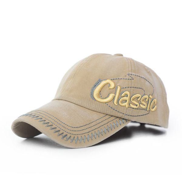 6545a3f1ff7 Mens Cotton Washed Baseball Caps CLASSIC Letter Embroidery Adjustable  Sports Snapback Hats