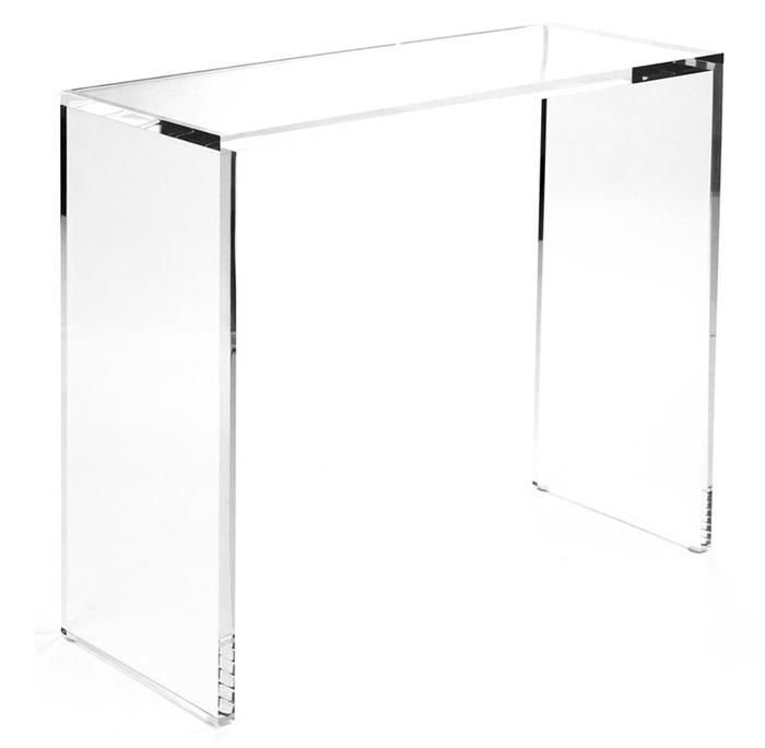 48 Stax Lucite Console Table Luxe Furniture Lucite Furniture Acrylic Furniture