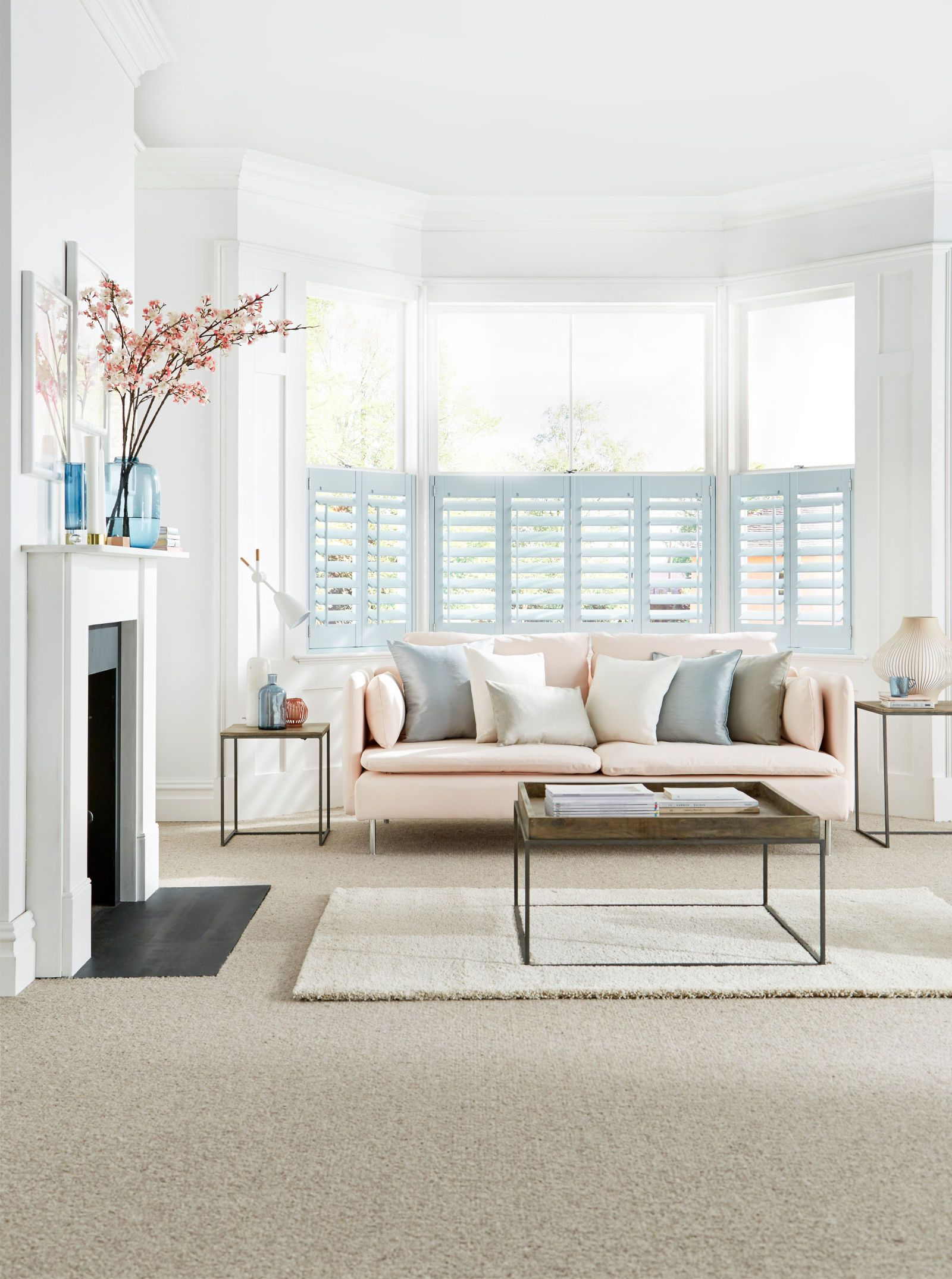Bay window solutions: blinds, curtains and shutters   Pinterest ...