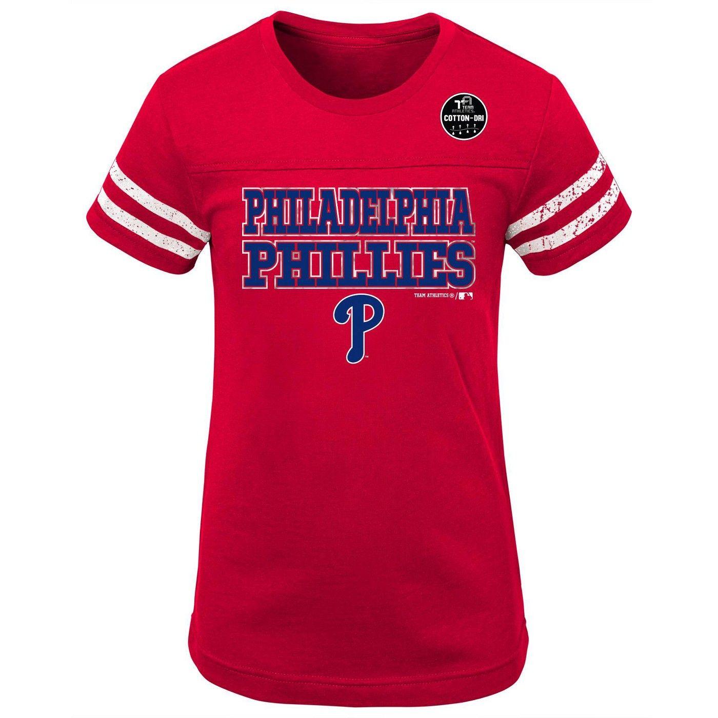 Philadelphia Phillies Girls' Double Play TShirt XS