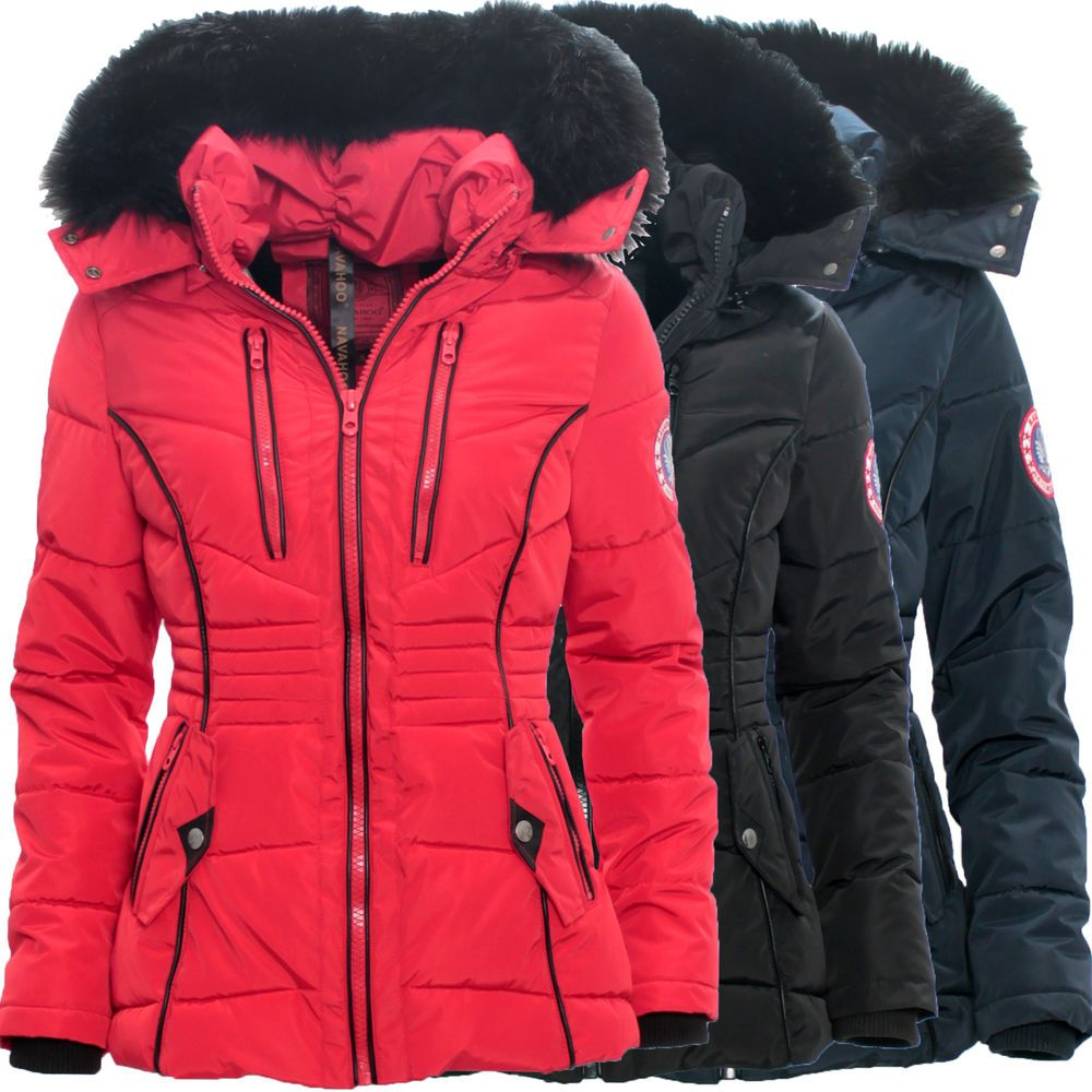 navahoo damen winter jacke stepp damenjacke mantel parka. Black Bedroom Furniture Sets. Home Design Ideas