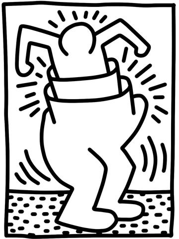 Pop Shop Figure by Keith Haring Coloring page | Art: Famous ...