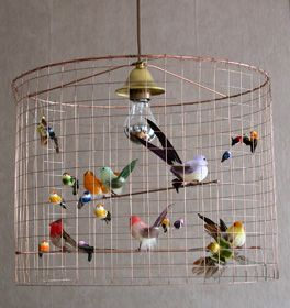 10 pendant lights for kids spaces chicken wire bird and inspiration mathieu challieres bird chandelier cute diy for a kids room one day greentooth Gallery