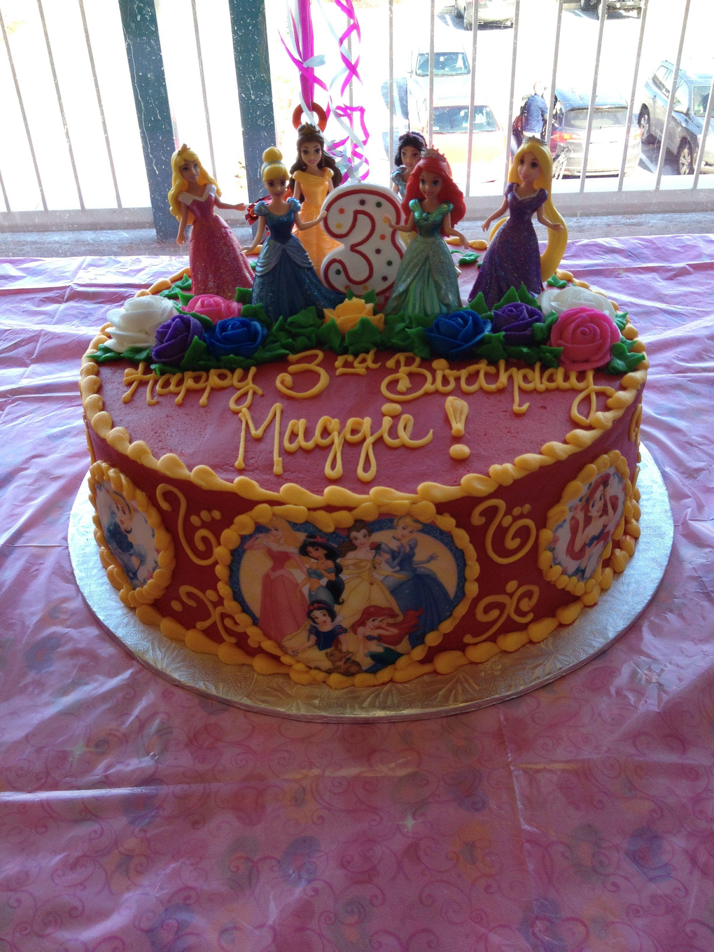 Red Disney Princess Cake