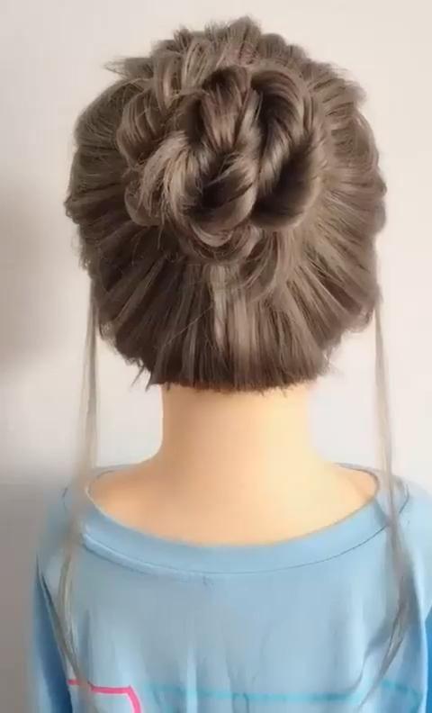Messy Hair Bun Updo Idea