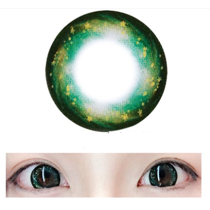 Cosplay Galaxy Green Two Piece Yc20377 Green Two Piece Colored Contacts Circle Lenses