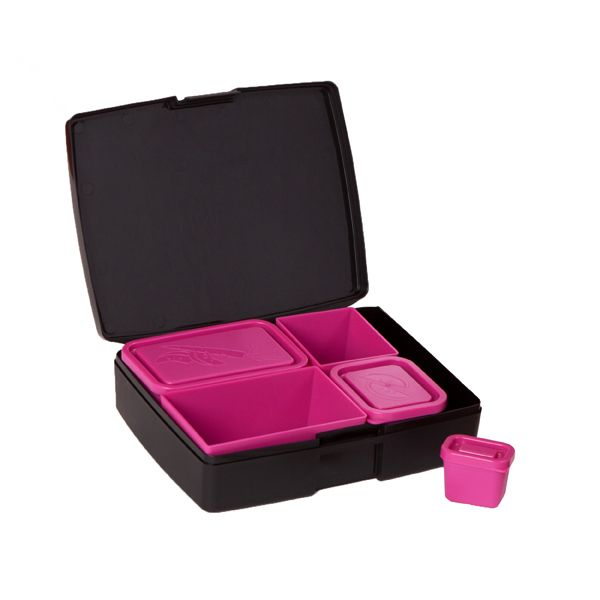 Laptop Lunch Box Pink/Black | The Bento Buzz