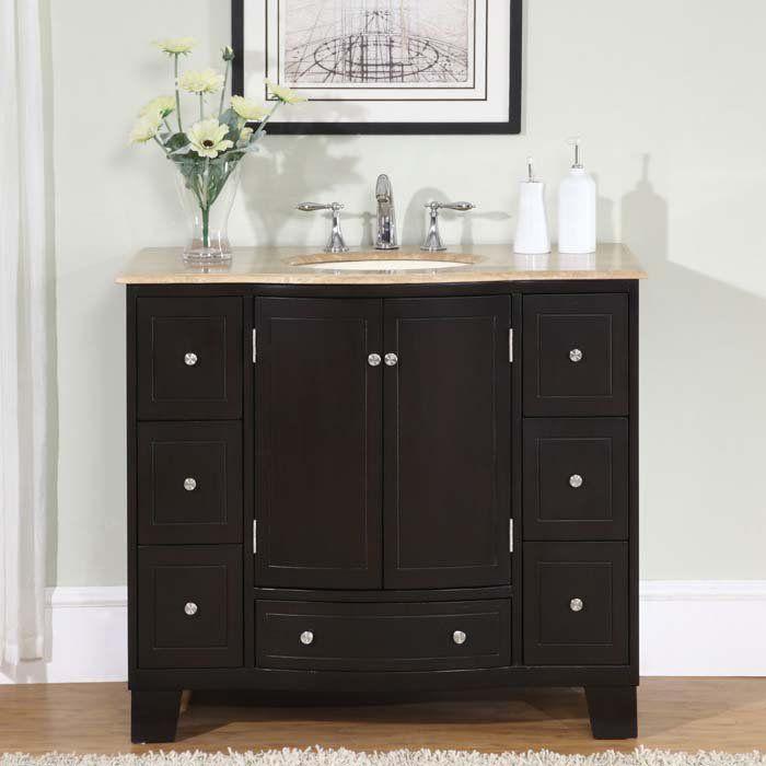 40 naomi single sink bathroom vanity cabinet travertine on replacement countertops for bathroom vanity id=14916