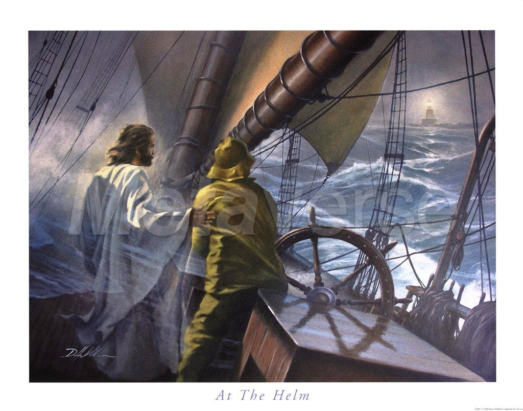 """AT THE HELM"" by artist Danny Hahlbohm Jesus, Jesus"