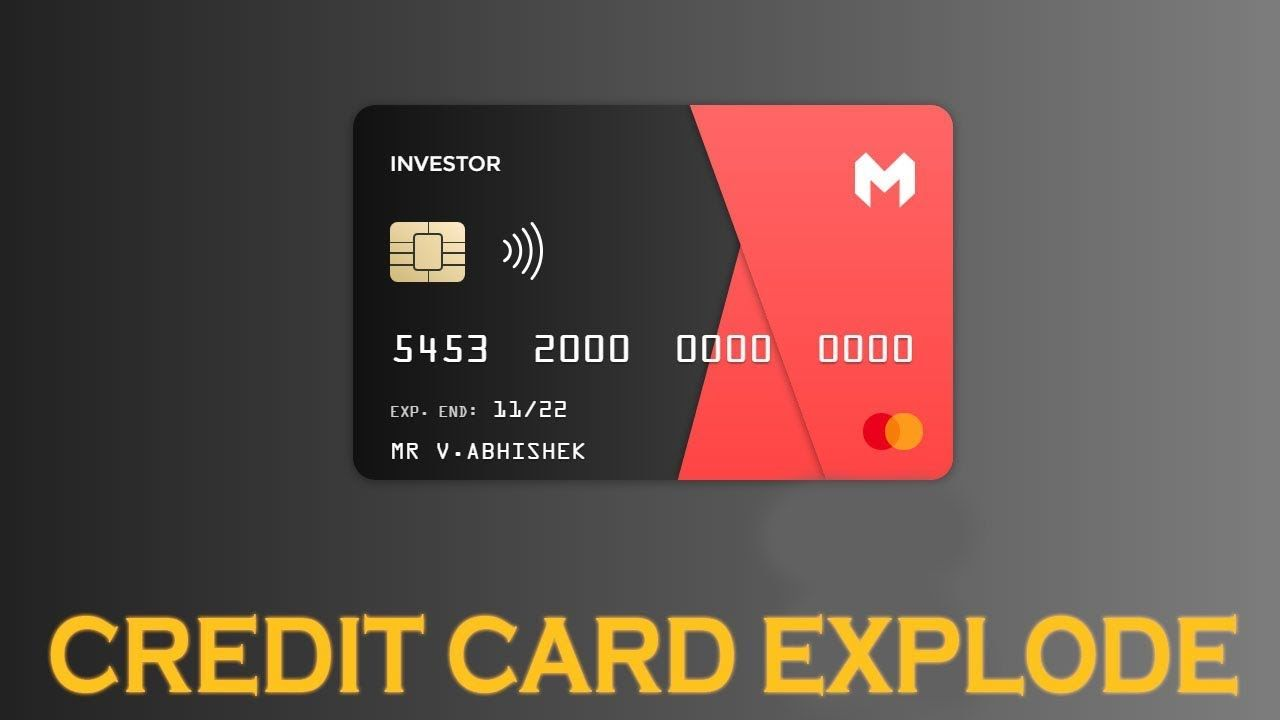 Credit card explode animation using css animation effects