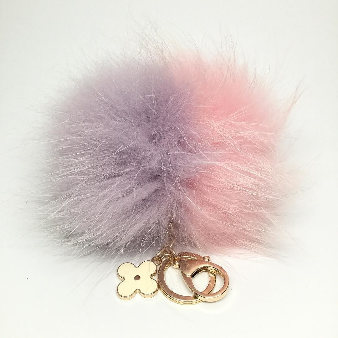 Grand duo one of the kind Lavender/Pale Pink Princess #unique only one available #furpompomkeychain #princess #musthaveitem #etsy