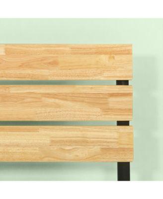 Zinus Paul Metal Wood Platform Bed Wood Slat Support King