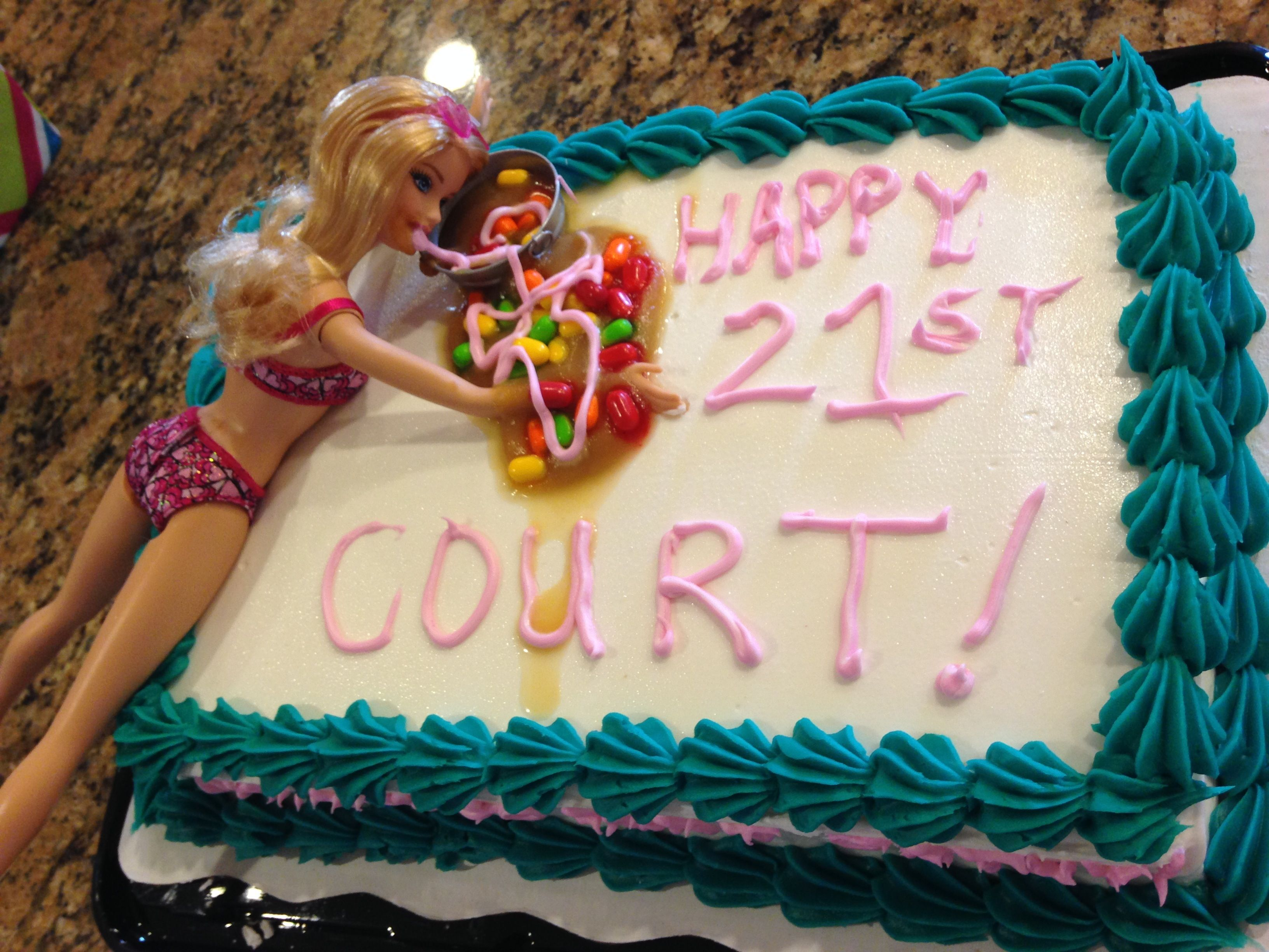 21st birthday cakequick and fun for the nonbaker Walmart cake