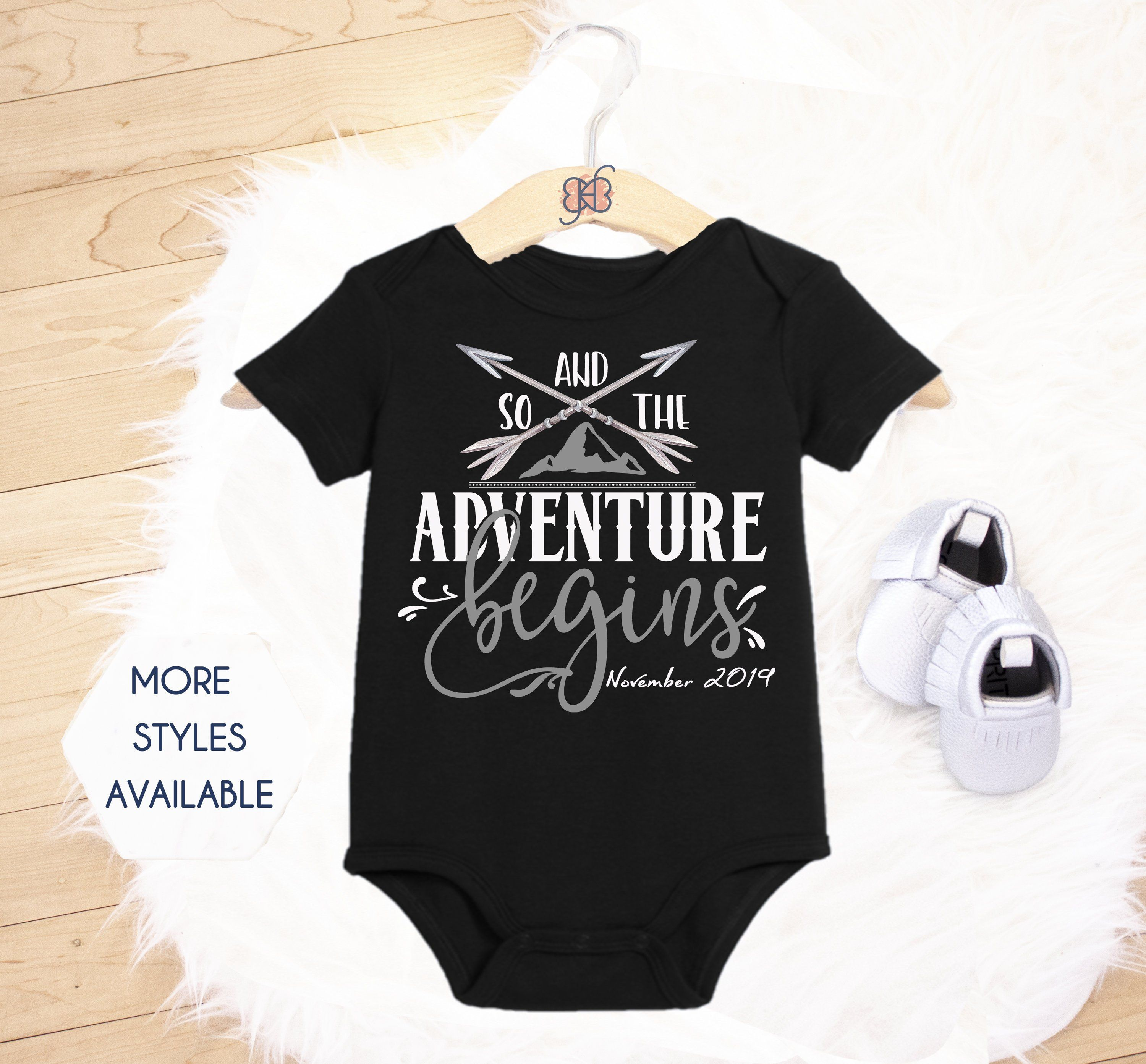 Family Baby Announcement Baby Reveal Announcement Photos We/'re Having A Baby ARRIVING Baby Announcement Pregnancy Announcement Onesie\u00ae