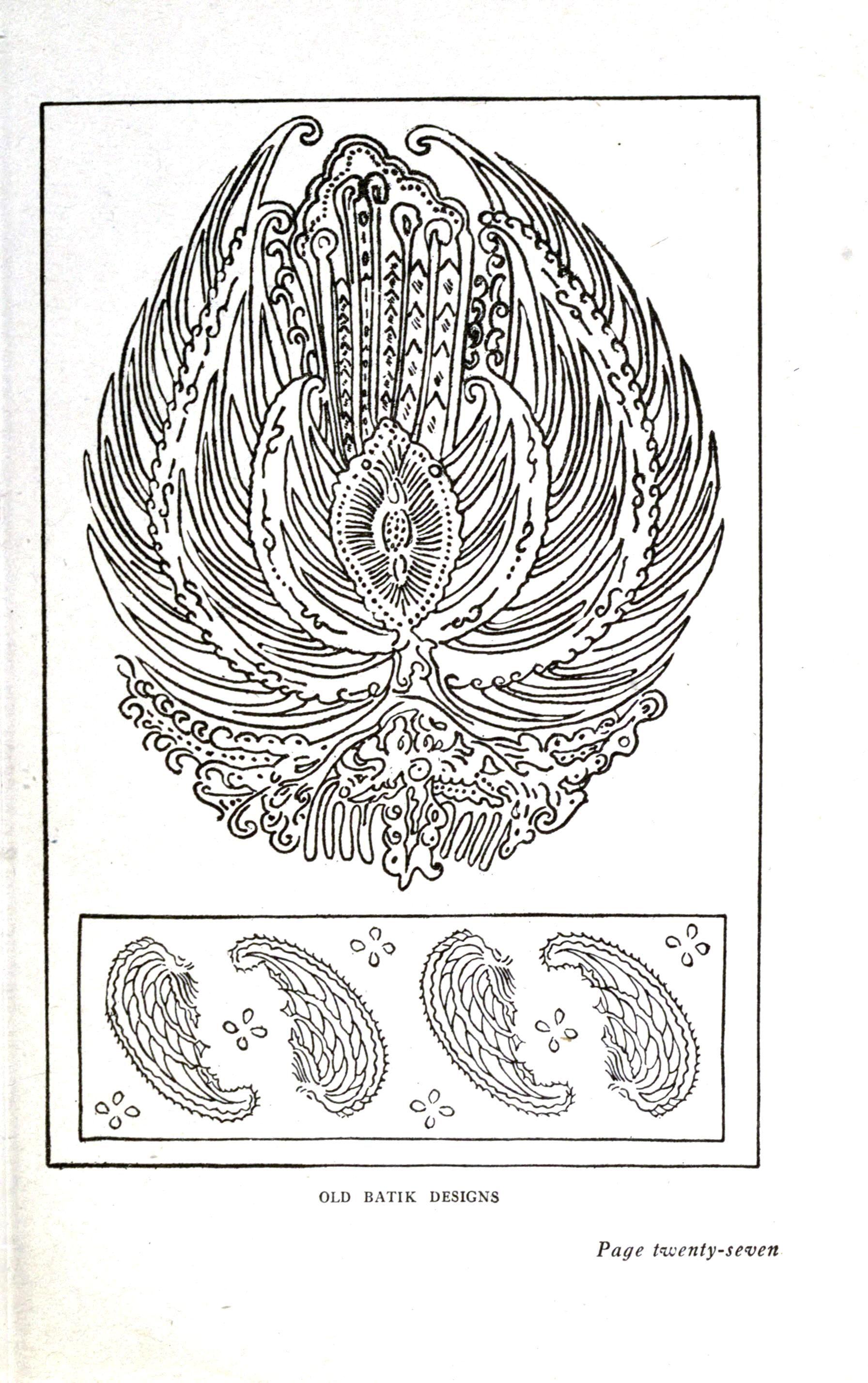 Old Batik Designs Public Domain