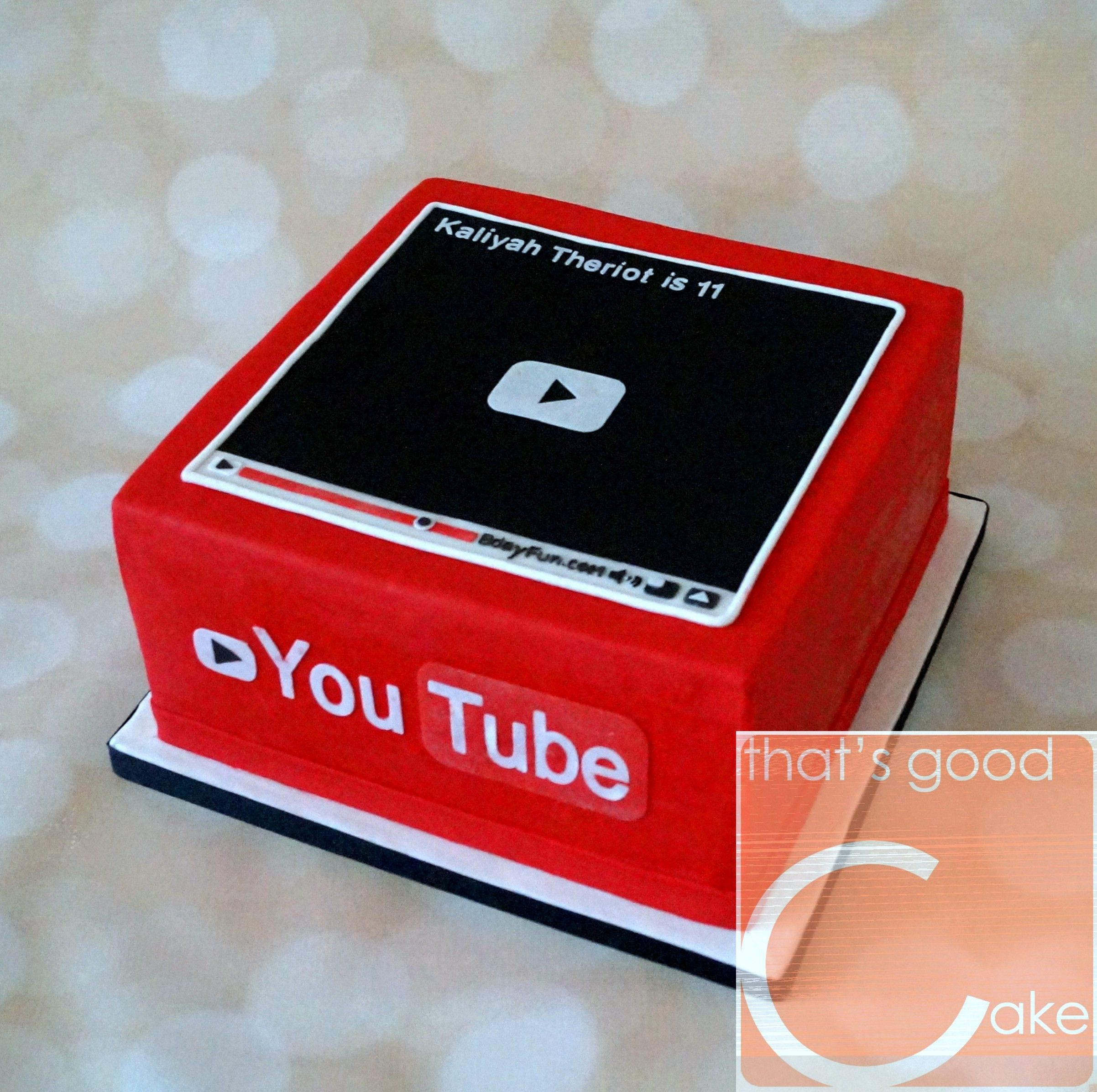 Excellent Youtube Birthday Cake Zomer Verjaardag Verjaardag Taarten Personalised Birthday Cards Paralily Jamesorg