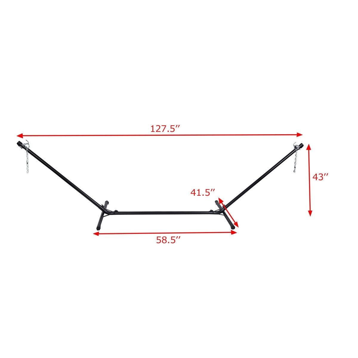 10 Ft Space Saving Steel Hammock Stand Color Black Material Durable Steel With Powder Coated Weight C Hammock Stand Hammock Stand Diy Hammock Chair Stand Diy