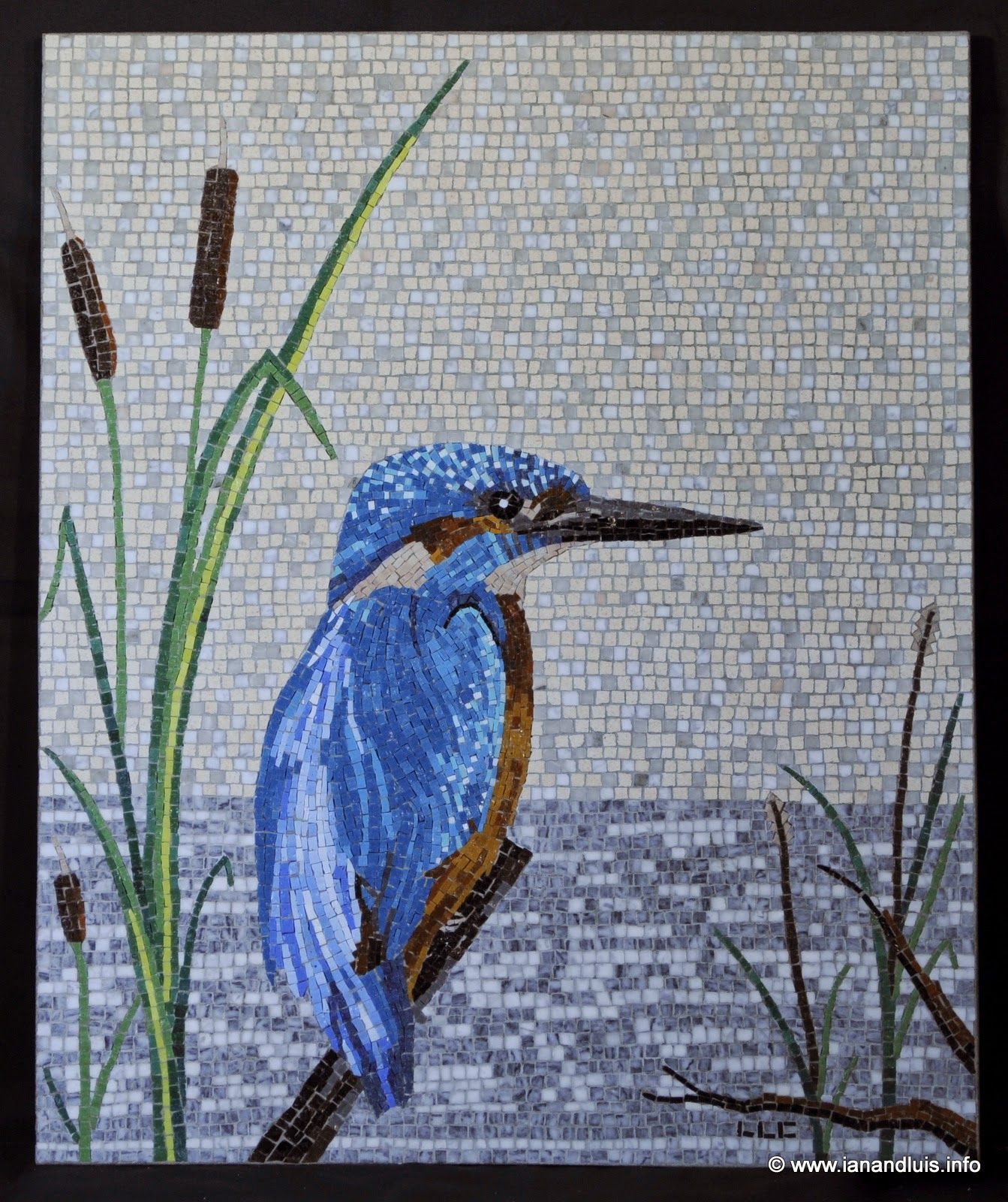 seagull artist mosaic element