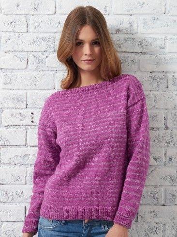 Yarnspirations.com - Patons Bateau Sweater - Patterns ...