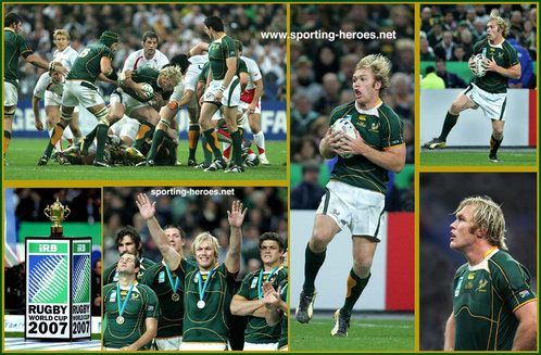 Schalk Burger South Africa 2007 Rugby Union World Cup Rugby Union Rugby Springbok Rugby