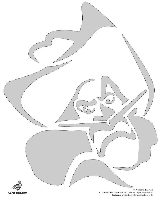 Pumpkin stencils disney carving patterns captain