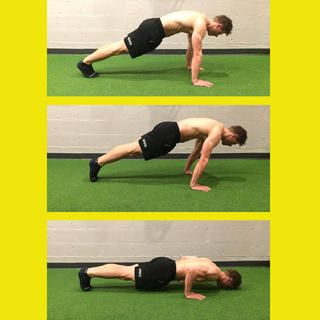 Planche Pushup http://www.menshealth.com/fitness/8-gymnastics-moves-you-must-add-to-your-routine/planche-pushup