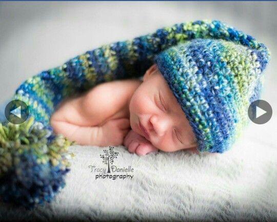 Crochet long stalking cap
